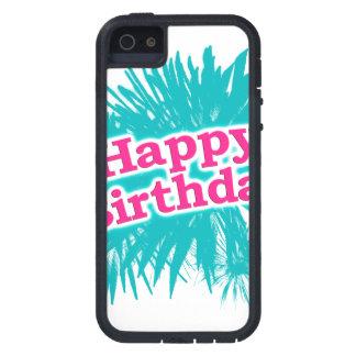 Capa Tough Xtreme Para iPhone 5 Design tipográfico feliz de Brithday