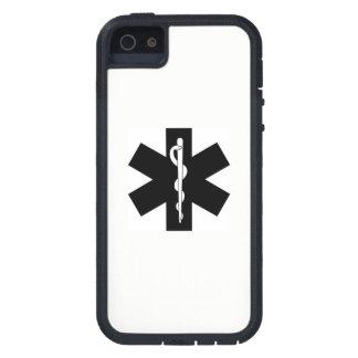 Capa Tough Xtreme Para iPhone 5 Estrela do paramédico do EMS EMT