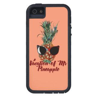 Capa Tough Xtreme Para iPhone 5 Férias do abacaxi. Impressão do humor