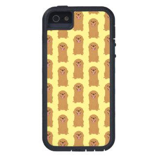 Capa Tough Xtreme Para iPhone 5 Ilustração feliz do golden retriever