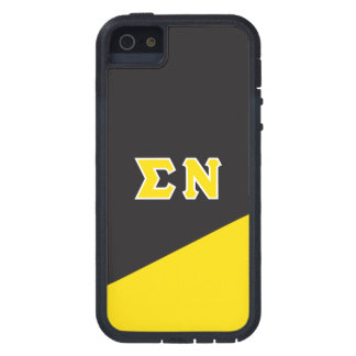 Capa Tough Xtreme Para iPhone 5 Letras do grego do NU | do Sigma