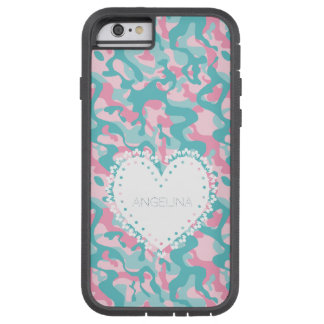 Capa Tough Xtreme Para iPhone 6 A camuflagem feminino do primavera personaliza