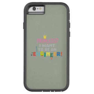 Capa Tough Xtreme Para iPhone 6 A princesa Eu quer ser um Engnineer Z2yb2