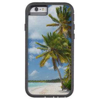 Capa Tough Xtreme Para iPhone 6 Água tropical de turquesa da praia e palmas
