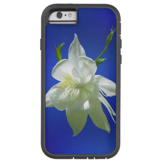 Capa Tough Xtreme Para iPhone 6 Aquilégia branco no azul