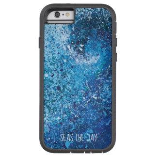 Capa Tough Xtreme Para iPhone 6 Arte abstracta litoral da onda da praia