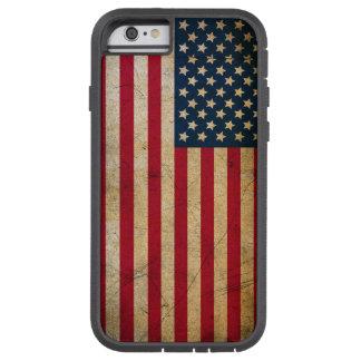Capa Tough Xtreme Para iPhone 6 Bandeira americana do vintage