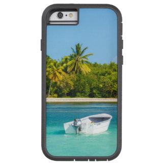 Capa Tough Xtreme Para iPhone 6 Barco de pesca tropical da costa na água de