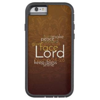 Capa Tough Xtreme Para iPhone 6 Bênção sacerdotal no damasco de cobre de Brown