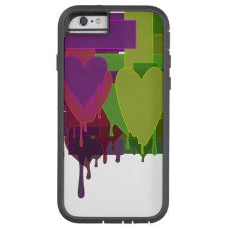 Capa Tough Xtreme Para iPhone 6 Blocos da cor que derretem corações
