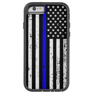 Capa Tough Xtreme Para iPhone 6 Blue Line fino embandeira a caixa