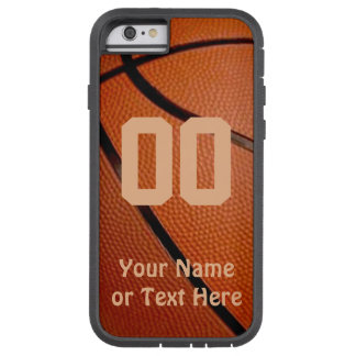 Capa Tough Xtreme Para iPhone 6 Caso do iPhone 6 do basquetebol com seus NOME e