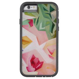 Capa Tough Xtreme Para iPhone 6 Caso floral abstrato cor-de-rosa do iPhone 6