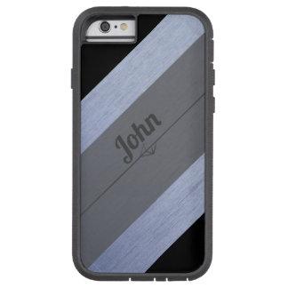 Capa Tough Xtreme Para iPhone 6 Cinzas de prata pretas personalizadas para ele