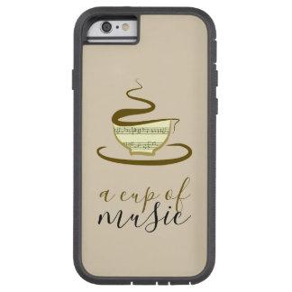 Capa Tough Xtreme Para iPhone 6 Copo de café do esboço minimalista tirado mão da