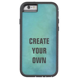 Capa Tough Xtreme Para iPhone 6 Criar sua própria pintura da aguarela de turquesa