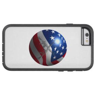 Capa Tough Xtreme Para iPhone 6 esfera da bandeira 3D