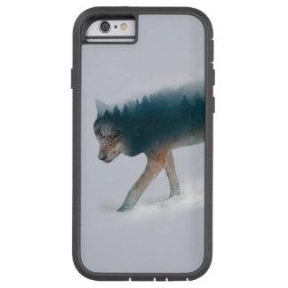 Capa Tough Xtreme Para iPhone 6 Exposição dobro do lobo - floresta do lobo - lobo