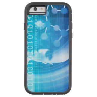 Capa Tough Xtreme Para iPhone 6 Fundo da molécula como um conceito do abstrato da