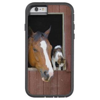 Capa Tough Xtreme Para iPhone 6 Gato e cavalo - rancho do cavalo - amantes do