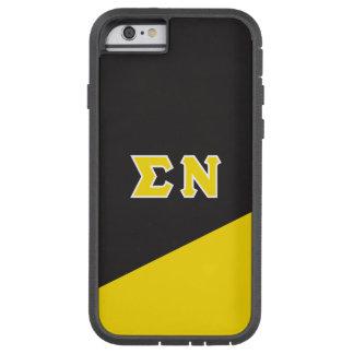 Capa Tough Xtreme Para iPhone 6 Letras do grego do NU | do Sigma