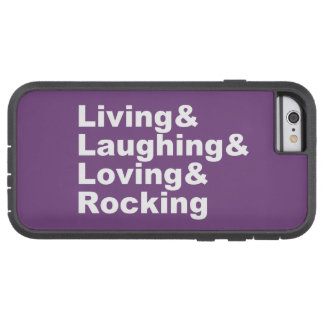 Capa Tough Xtreme Para iPhone 6 Living&Laughing&Loving&ROCKING (branco)