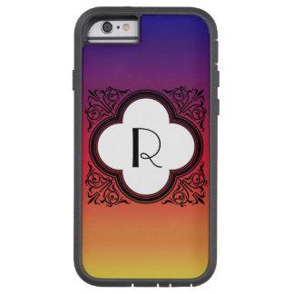 Capa Tough Xtreme Para iPhone 6 Monograma Noir da beira do estilo do inclinação