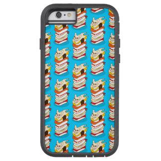 Capa Tough Xtreme Para iPhone 6 Noite japonesa do sushi para o buldogue francês