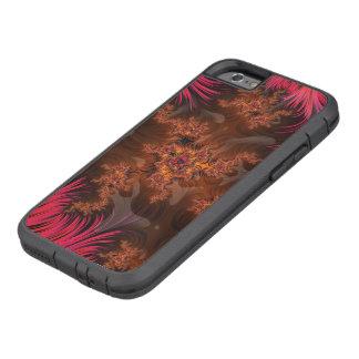 Capa Tough Xtreme Para iPhone 6 O coração líquido da lava de um vulcão do Fractal