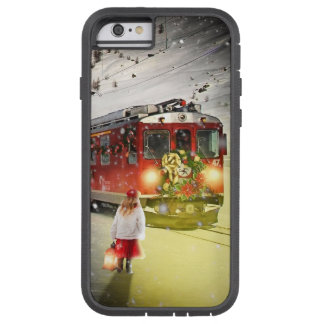 Capa Tough Xtreme Para iPhone 6 O papai noel expresso do Pólo Norte - trem do