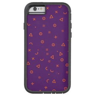 Capa Tough Xtreme Para iPhone 6 Partículas felizes roxas