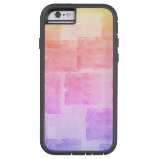 Capa Tough Xtreme Para iPhone 6 Pastel de Ombre da arte da aguarela do arco-íris