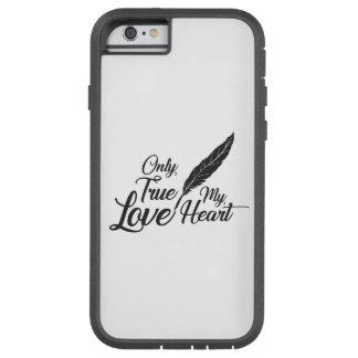 Capa Tough Xtreme Para iPhone 6 Pena verdadeira do amor da ilustração