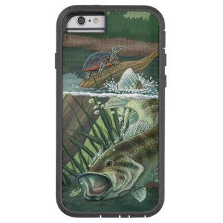 Capa Tough Xtreme Para iPhone 6 Pesca da perda Largemouth
