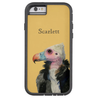Capa Tough Xtreme Para iPhone 6 Pintura Branco-Dirigida da aguarela do abutre