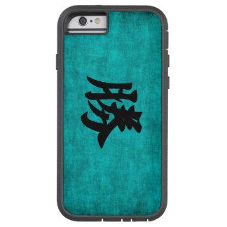 Capa Tough Xtreme Para iPhone 6 Pintura do caráter chinês para o sucesso no azul