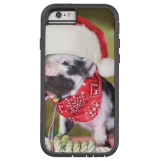 Capa Tough Xtreme Para iPhone 6 Porco Papai Noel - porco do Natal - leitão
