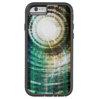 Capa Tough Xtreme Para iPhone 6 Portal futurista da tecnologia com Digitas