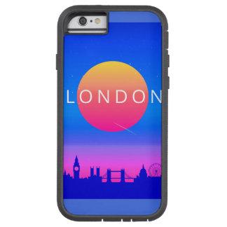 Capa Tough Xtreme Para iPhone 6 Poster de viagens dos marcos de Londres