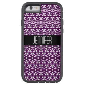 Capa Tough Xtreme Para iPhone 6 Profundamente - teste padrão geométrico roxo e