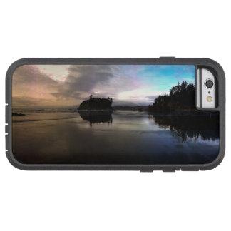Capa Tough Xtreme Para iPhone 6 Reflexão do por do sol da praia do rubi