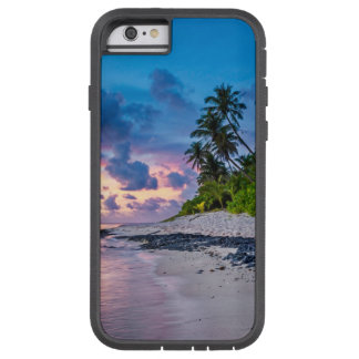 Capa Tough Xtreme Para iPhone 6 Sandy Beach das caraíbas e palmas litorais