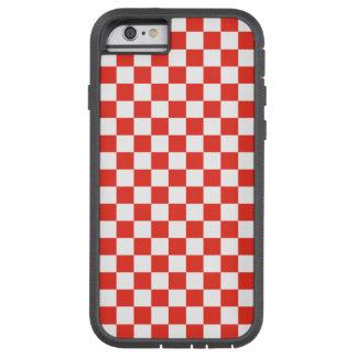 Capa Tough Xtreme Para iPhone 6 Tabuleiro de damas vermelho