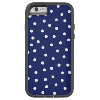 Capa Tough Xtreme Para iPhone 6 Teste padrão de pontos dos confetes dos azuis