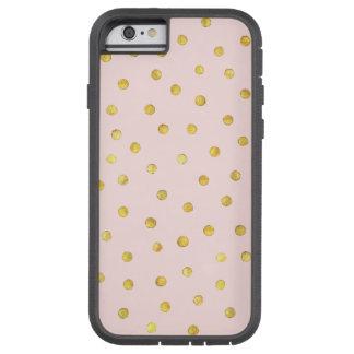 Capa Tough Xtreme Para iPhone 6 Teste padrão de pontos elegante dos confetes da