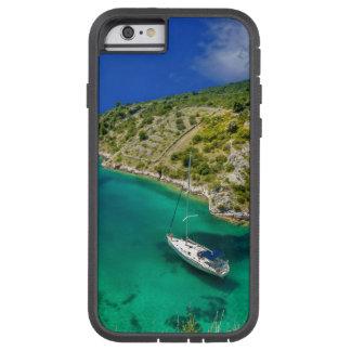 Capa Tough Xtreme Para iPhone 6 Veleiro no oceano do verde esmeralda