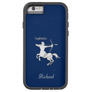 Capa Tough Xtreme Para iPhone 6 Zodíaco do Sagitário dos azuis marinhos