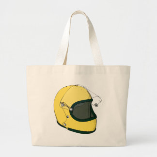 Capacete amarelo bolsa