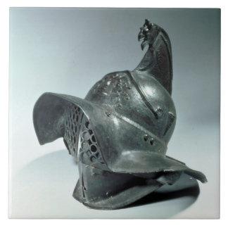 Capacete de bronze do gladiador de Thracian,