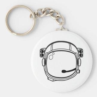 Capacete de espaço do astronauta chaveiro